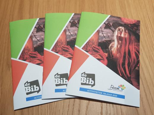 cover van brochure met activiteiten bib najaar 2020
