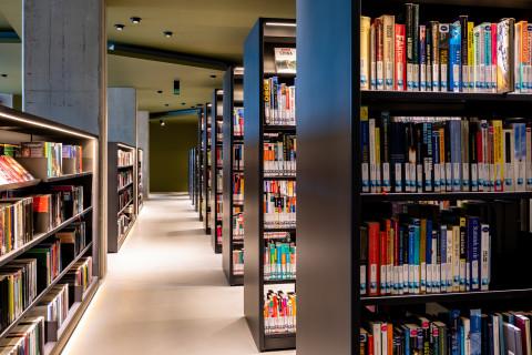 sfeerbeeld bibliotheekrekken