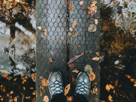 foto van wandelschoenen